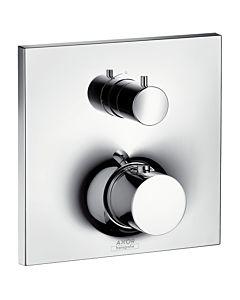 hansgrohe Fertigmontageset Axor Massaud, chrom Unterputz, Thermostatbatterie, mit Absperrventil