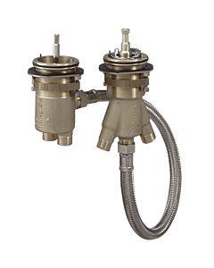 hansgrohe corps de base 13550180 pour thermostat de bord de baignoire 2 trous, DN15