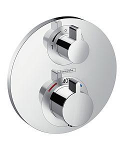 hansgrohe Ecostat S Brause Thermostat 15757000 Unterputz Thermostat, für 1 Verbraucher, chrom