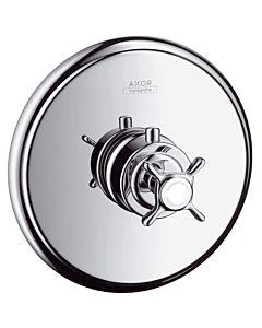 hansgrohe Fertigmontageset Axor Montreux 16810820 Unterputz Thermostat, Kreuzgriff, brushed nickel