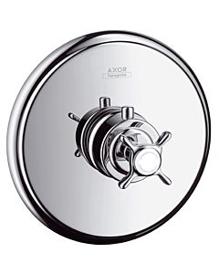 hansgrohe Fertigmontageset Axor Montreux 16810820 Unterputz Thermostat, Kreuzgriff, brushed nickel