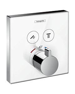 hansgrohe ShowerSelect Brausethermostat 15738400 Unterputz Thermostat, 2 Verbraucher, weiss-chrom