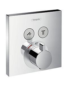 hansgrohe ShowerSelect Thermostat 15763000  Unterputz, Fertigmontageset, 2 Verbraucher