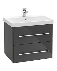 Villeroy & Boch Avento Unterschrank A88900B1 56,7x52,0x44,7cm, Crystal Grey, 2 Auszüge