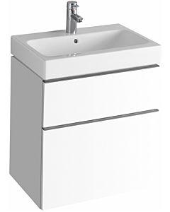 Keramag iCon Waschtischunterschrank 840360000 59,5x62x47,7cm, Alpin hochglanz, Schublade/Auszug
