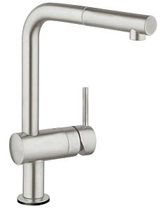 Grohe Minta Touch Küchenarmatur 31360DC1 elektronisch, supersteel, L-Auslauf schwenkabr