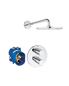 Grohe Grohtherm 3000 Duschsystem 26262000 Unterputz-Thermostat, Rainshower Cosmopolitan 210