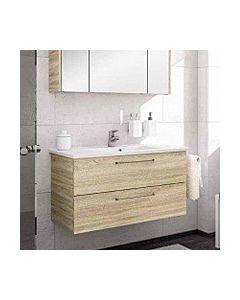 Artiqua Basic Bathroom furniture set 80811281002 100 cm, Castello oak, vanity unit + base cabinet