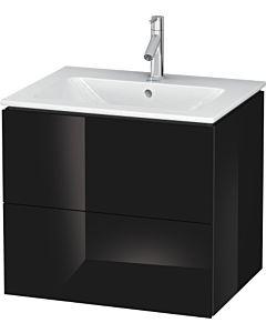 Duravit L-Cube Waschtischunterbau LC624004040 Schwarz Hochglanz, 62x55,5x48,1cm, 2 Auszüge
