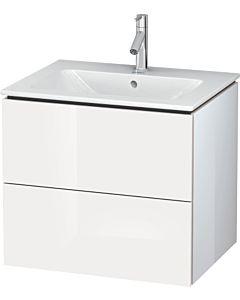 Duravit L-Cube Waschtischunterbau LC624008585 Weiß Hochglanz, 62x55,5x48,1cm, 2 Schubladen