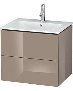 Duravit L-Cube Waschtischunterbau LC624008686 Cappuccino Hochglanz, 62x55,5x48,1cm, 2 Schubladen