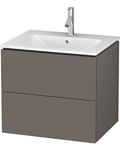 Duravit L-Cube Waschtischunterbau LC624009090 Flannel Grey Seidenmatt, 62x55,5x48,1cm, 2 Auszüge