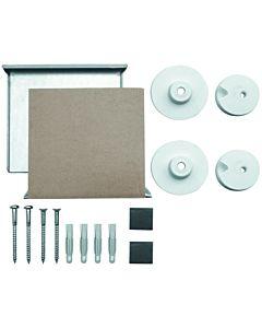 ASW Druckknopf-Spiegelbefestigung 490008 für Spiegel bis max. 6 mm - 0,8 m², unsichtbar