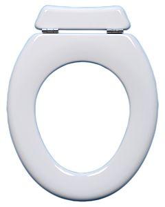 Toto WC-Sitz Olfa Universal ohne Deckel 0720001 mit Rueckbrett, Edelstahlscharnier, weiss