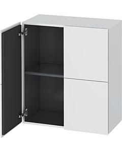 Duravit L-Cube Halbhochschrank LC117701818 weiss matt, 70 x 80 x 36,3 cm, 2 Türen