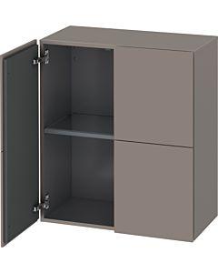 Duravit L-Cube Halbhochschrank LC117704343 Basalt Matt, 70 x 80 x 36,3 cm, 2 Türen