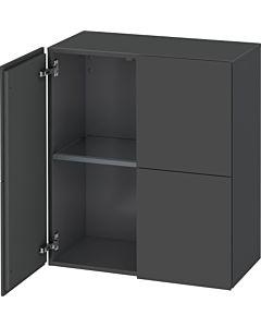 Duravit L-Cube Halbhochschrank LC117704949 Graphit Matt, 70 x 80 x 36,3 cm, 2 Türen