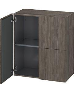 Duravit L-Cube Halbhochschrank LC117705151 Pine Terra, 70 x 80 x 36,3 cm, 2 Türen