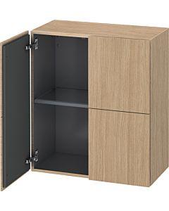Duravit L-Cube Halbhochschrank LC117705252 Europäische Eiche, 70 x 80 x 36,3 cm, 2 Türen