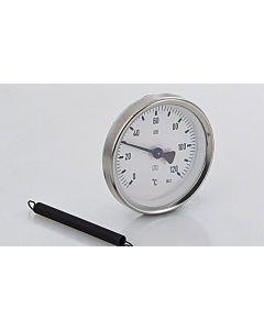 """Afriso Anliege Thermometer 0-120 Grad 63822 Gehäuse 63mm, für 1""""-2"""" Rohre"""