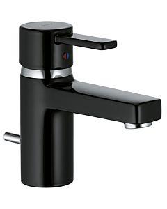 Kludi Zenta Black Waschtischarmatur 382508675 chrom/schwarz, mit Ablaufgarnitur