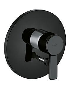 Kludi Zenta Black Wannenarmatur 386508675 chrom/schwarz, Unterputz, Fertigmontageset
