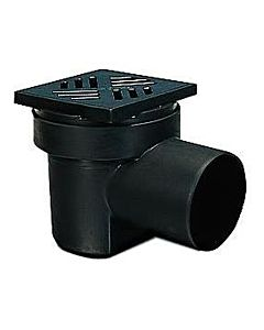 Kessel Kellerablauf 36501 DN 100, Schlitzrost, Kunststoff, schwarz