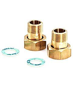 Reflex Anschlussverschraubungen 6762100 für Wärmetauscher, 1/2 AG, 2 Stück
