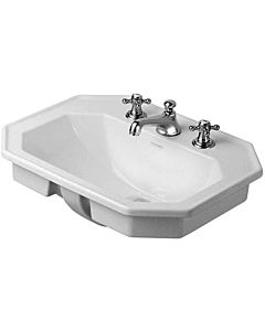 Duravit Serie 1930 built-in washbasin 04765800301 3 tap holes, installation from above, white, wondergliss