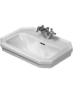 Duravit Serie 1930 Handwaschbecken 07855000001 mit Überlauf und Hahnloch, weiss, wondergliss