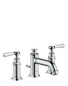 hansgrohe Axor Montreux faucet 16535000 chrome, pop-up waste set, 142 mm, lever handle