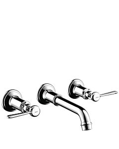 """hansgrohe Axor Montreux faucet 16534000 3 hole fitting, 1/2 """", lever handle, chrome"""