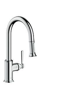 hansgrohe Axor Montreux kitchen fitting 16581000 chrome, pull-out spray, swivel range adjustable