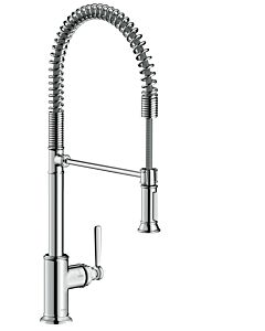 hansgrohe Axor Montreux Küchenarmatur 16582000 chrom, schwenkbar 360Grad, Semi-Pro