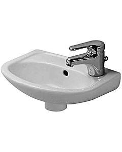 Duravit Duraplus Compact Handwaschbecken 079735000 36,5 x 26,5 cm, weiss, Hahnlochvorstich seitlich