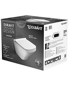 Duravit DuraStyle Wand WC Set 45520900A1 weiss, mit WC-Sitz