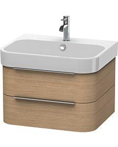 Duravit Happy D.2 Waschtischunterbau H2636405252 62,5x48x38 cm, Europäische Eiche, 2 Schubkästen