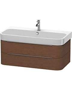 Duravit Happy D.2 Waschtischunterbau H2636601313 97,5x48x38cm, Amerik. Nussbaum, 2 Schubkästen