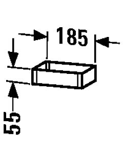 Duravit Box UV991007878 10x18,5x5,5cm, aus Acryl/Holz, ahorn
