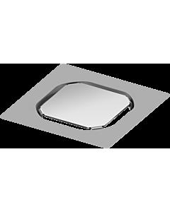 TECEdrainpoint S befliebarer Aufsatz 3660016 100x100mm, Edelstahl, Fliesenträger rahmenlos