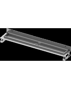 TECEdrainline Duschrinne 600801 800mm,mit Wandaufkantung und Seal System Dichtband
