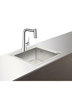 Hansgrohe Select C71-F450-01 Spülencombi 43207000  chrom, mit sBox, 1 Hauptbecken