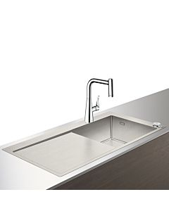 Hansgrohe Select C71-F450-02 Spülencombi 43208000 chrom, mit sBox, 1 Hauptbecken, Abtropffläche