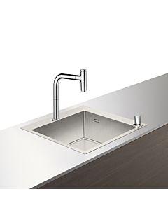 Hansgrohe Select C71-F450-06 Spülencombi 43201800 edelstahl-optik, mit sBox, 1 Hauptbecken