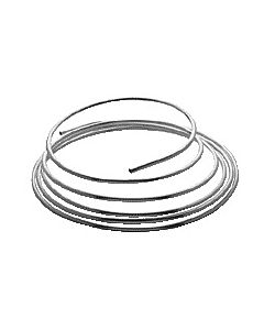 Copper tube in rings 12x5000mm chrome, per ring