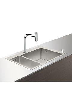 Hansgrohe Select C71-F655-09 Spülencombi 43206000 chrom, mit sBox, 1 Haupt- und Zusatzbecken