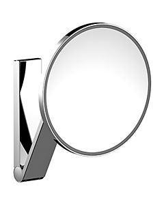 Keuco iLook_move Kosmetikspiegel 17612019003 beleuchtet, Ø 212 mm, verchromt, Unterputz