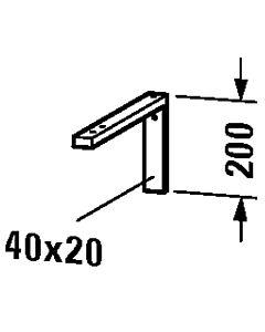 Duravit Konsolenträger-Winkel UV990200000 40 x 20 x 42,5 cm, montierbar unter Konsole