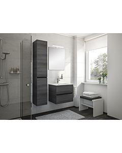 Artiqua Badmöbel Set Serie 827 weiss glanz Waschtisch+Unterschrank+LED Spiegel, 80cm