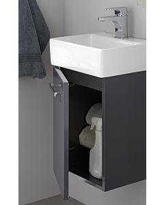 Artiqua Serie 831 Waschtischunterschrank 831-WUT-CM02-L, stahlgrau, links